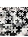 photo of Muslin Digital Print Black Color Fabric