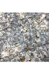 photo of Muslin Digital Print Off White Color Fabric