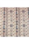 photo of Digital Printed Rayon Fabric In Black Color With Geometric Patterns