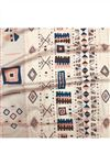 image of Digital Printed Rayon Fabric In Black Color With Geometric Patterns