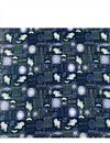 photo of Navy Blue Color Rayon Fabric With Abstract Digital Prints
