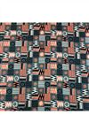 photo of Digital Printed Rayon Fabric In Grey Color With Geometric Patterns