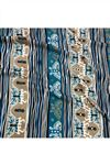 image of Digital Print Rayon Fabric In Blue With Butterfly Prints