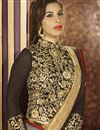 photo of Sophie Choudry Brown-Beige Color Saree-83