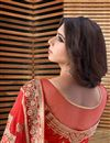 photo of Soothing Red Color Party Wear Georgette Designer Saree