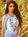 photo of Fancy Anarkali Dress With Pleated Flares And Attached Drape Dupatta