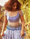 photo of Net Sequin Top With Pleated Tye And Dye Skirt