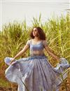 image of Net Sequin Top With Pleated Tye And Dye Skirt