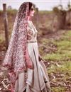 photo of Asymmetric Double Layered Dress With Multicolor Printed Dupatta