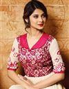 photo of Ready To Ship Jennifer Winget Designer Cream Banglori Silk Party Wear Anarkali Salwar Kameez
