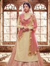 picture of Ready To Ship Beige Color Party Style Long Anarkali Suit In Fancy Fabric