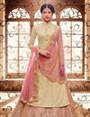 image of Ready To Ship Beige Color Party Style Long Anarkali Suit In Fancy Fabric