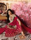 picture of Ready To Ship Georgette Fabric Designer Function Wear Sharara Dress In Grey