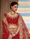 photo of Wedding Wear Designer Fancy Red Color Art Silk Fabric Embellished Lehenga Choli