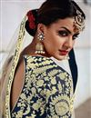 photo of Designer Wedding Wear Beige Color Art Silk Fabric Embroidered Fancy Lehenga Choli
