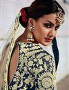 photo of Wedding Function Wear Fancy Beige Color Art Silk Fabric Embellished Lehenga