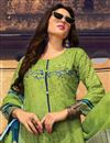 photo of Casual Wear Digital Print Cotton Green Palazzo Suit