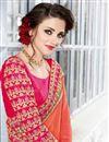 photo of Designer Function Wear Orange Color Georgette Embellished Saree