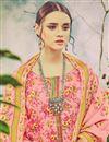 photo of Casual Wear Pink Color Floral Print Straight Cut Pashmina Salwar Kameez