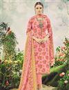 image of Casual Wear Pink Color Floral Print Straight Cut Pashmina Salwar Kameez