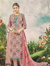 image of Casual Floral Print Pink Color Floral Print Straight Cut Pashmina Salwar Suit