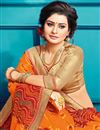 photo of Georgette Occasion Wear Gorgeous Bandhani Style Saree In Orange