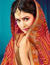 photo of Georgette Gorgeous Designer Bandhani Style Saree In Maroon