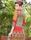 photo of Cotton Mustard Casual Wear Straight Cut Dress With Print Work
