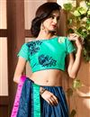 photo of Fancy Chinon Party Wear Lace Work Saree In Navy Blue