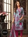 image of Grey Color Casual Wear Salwar Kameez In Fancy Fabric With Digital Print