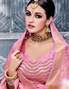 photo of Designer Sangeet Wear Banarasi Silk Peach Color Lehenga Choli