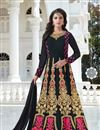image of Embroidered Fancy Designer Black Color Georgette Party Wear Anarkali Dress