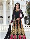 image of Embroidered Fancy Designer Black Color Georgette Party Wear Anarkali Dress
