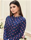 photo of Mouni Roy Navy Blue Embroidered Anarkali Salwar Suit In Taffeta Silk