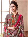 photo of Fancy Designer Salwar Suit In Grey Color Pashmina Fabric Embellished With Beautiful Print Designs