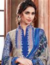 photo of Pashmina Fabric Beige Color Casual Wear Printed Suit With Eye Catchy Print Designs
