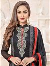photo of Krystle Dsouza Black Color Designer Salwar Suit In Georgette Fabric With Embroidery Work