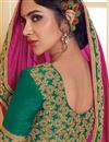 photo of Function Wear Designer Magenta Color Silk Fabric Plain Saree with Embroidered Lace Border