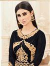 photo of Glamorous Black Color Embroidered Designer Salwar Kameez Featuring Mouni Roy