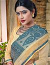 photo of Designer Grey Color Banarasi Silk Style Traditional Saree