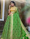 image of Fancy Green Color Banarasi Silk Style Designer Traditional Saree