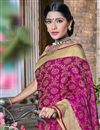 photo of Traditional Designer Magenta Color Banarasi Silk Style Fancy Saree