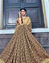 photo of Traditional Beige Color Banarasi Silk Style Festive Wear Fancy Saree