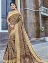 image of Designer Beige Color Banarasi Silk Style Traditional Saree