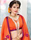 photo of Cotton Orange Thread Work Embroidered Fancy Saree