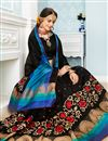 photo of Thread Work Embroidered Cotton Traditional Saree