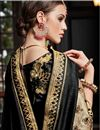 photo of Function Wear Art Silk Fancy Saree In Black With Heavy Border