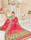photo of Designer Pink Color Silk Fabric Wedding Wear Fancy Embellished Saree