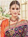 photo of Designer Navy Blue Color Silk Fabric Wedding Wear Fancy Embellished Saree