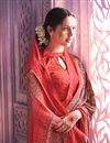 photo of Office Wear Crepe And Art Silk Saree In Salmon